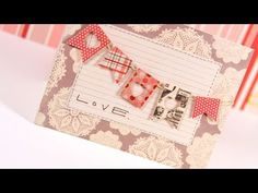 heart punched flags - good tutorial (uses Tombow mono multi glue for embroidery floss string)