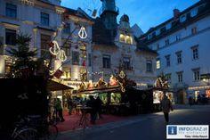 Weihnachtlicher Lichterglanz, stimmungsvolle Adventmärkte, die überdimensionale Eiskrippe, ein leuchtender Adventkalender am Rathaus – das ist Graz in der Vorweihnachtszeit.