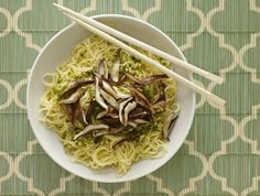 The ginger and scallion sauce gives these long life Chinese noodles a wonderful kick.