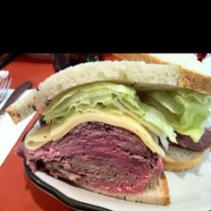 roast beef sandwich from Stage Deli in NYC