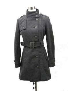 Women's Double-breasted Wool Coat with Belt Size Small Hima. $39.90