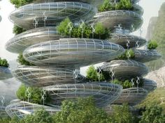 Vincent Callebaut unveiled designs for a self-sustaining urban utopia in India that not only grows organic food, but also produces more energy than it consumes.