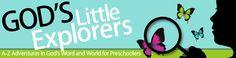 God's Little Explorers Christian Preschool Curriculum FREE A-Z curriculum for preschoolers by @momonadime