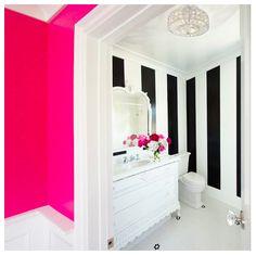 Home-Styling: Black & white stripes and pink * Riscas Preto e Branco e Rosa