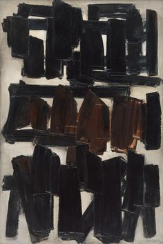 Pierre Soulages, Painting, November 20, 1956, 1956. Oil on canvas, 76 3/4 x 51 1/4 inches (195 x 130.2 cm)