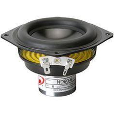 """Dayton ND91-8 3-1/2"""" Aluminum Cone Full-Range Driver 8 Ohm #speaker #speakers #DIY"""