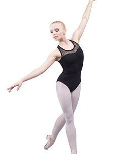 Dance Favourite Ballet Leotards Black Cotton Spandex Gymnastics Leotard for Dance,for Women,Leotard Girls,AM01B0002
