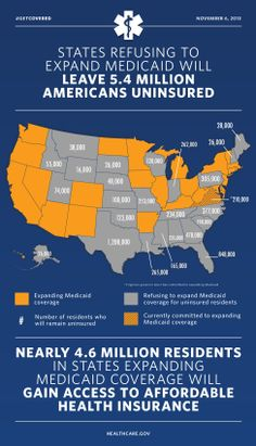 24 States Are Refusing to Expand Medicaid. Here's What That Means for Their Residents | New Visions Healthcare Blog #ACA #PPACA #Medicaid #HIX #hcsm #health #healthinsurance #money #healthcare #business #economics #uninsured #drug #drugs #marketing #hcmktg #hcr - www.healthcoverageally.com