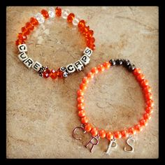 My Beautiful bracelets my son made me.