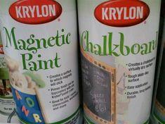 Magnetic Paint & Chalkboard Paint