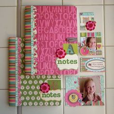 """Notes """"books"""" by Aly Dosdall (via Jillibean Soup blog).  Great gift idea for the holidays!"""