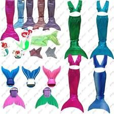 Kids Girls Swimmable Mermaid Tail Party Costume Monofin Sold Separately Swimwear