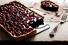 Chocolate Pomegranate Tart by pastryaffair