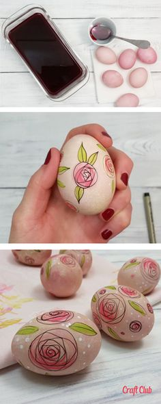 Free Easter egg tutorial with video. Make pretty Cottage Chic Easter eggs this year. Easter Egg Dye, Easter Tree, Cottage Chic, Sweet Potatoes For Dogs, Diy And Crafts Sewing, Dog Treat Recipes, Egg Decorating, Egg Hunt, Breakfast For Kids