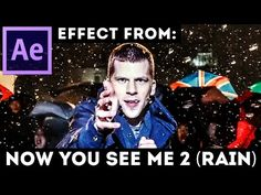 After Effects Tutorial: Raindrops Freeze Time (Advanced) Trapcode Form - Now You See Me 2 - YouTube