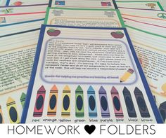 Homework folders help both students and families by providing them with resources at their fingertips to help them navigate activities and learning at home. Teachers can provide families with multiple learning opportunities and reinforcement activities an