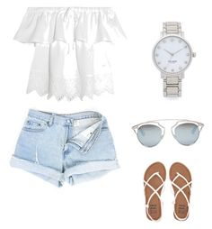 """""""Cute summer outfit."""" by sheadan-barker ❤ liked on Polyvore featuring Madewell, Kate Spade, Christian Dior and Billabong"""