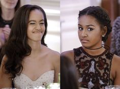 How the time has flown by. Malia Obama and Sasha Obama easily stole the show Thursday night at a ...