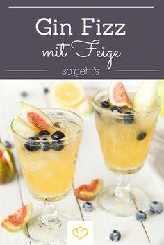 Prosit Neujahr! Ein neues Jahr verdient einen neuen Drink! Wie wäre es mit einem prickelnden Cocktail aus Gin, Sodawasser und Feige?