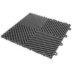 Gladiator GAFT04DTPC Charcoal Drain Floor Tile (4 Pack) Price: $19.95