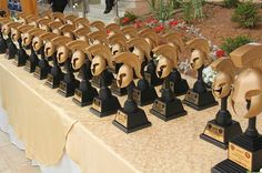 Trophies from The 6th Annual Warrior Competition in Jordan