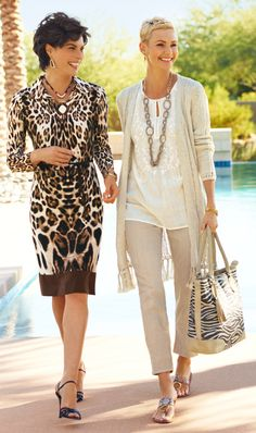 Meeting outfit ideas. I like both of them. I also like the one on the right for traveling. Cute and comfy but polished and professional. 2 silver Chic necklaces or Coco Rose. Arm party and Constellation ring.