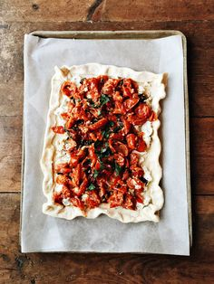 Roasted Tomato Tart from @sandycoughlin
