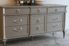 Annie Sloan Chalk Paint- coco. Waxed after paint