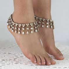 Gold and silver jewelled Anklet by ForeverSoles on Etsy, $32.50