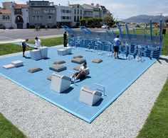 """public outdoor gym """"park"""" Plus Gym Design, Design Firms, Urban Design, Fitness Design, Outdoor Gym, Outdoor Workouts, Urban Landscape, Landscape Design, Urban Sport"""