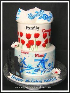 Dutch themed Cake by Mel_SugarandSpiceCakes