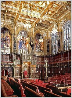 The House of Lords, Wesminster, London