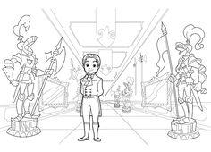 Desenhos para Colorir da Princesa Sofia – Disney para Imprimir