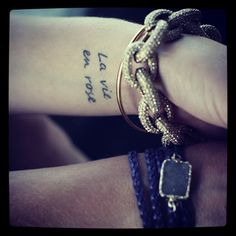 I want this tattoo, this font but on the inside of my arm in a straight line :)
