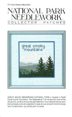 DIY Chart Counted Cross Stitch Patterns Needlework A Smoky Mountain Morning