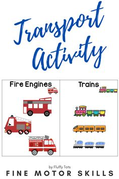 Let's your little ones have fun with this exciting Transportation Theme Preschool Activity pack!  This packet is fun-packed with fine motor activities such as cutting, tracing, sorting, matching and more!  Just print and go! Perfect for independent activity. Preschool Activities At Home, Indoor Activities For Toddlers, Preschool Centers, Motor Skills Activities, Kindergarten Fun, Preschool Printables, Fine Motor Skills, Transportation Theme Preschool, Learning Letters