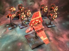 Another view of the Imperial Remnant Fleet #x wing miniatures