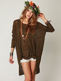Free People New Romantics Message in the Sand tunic - make this