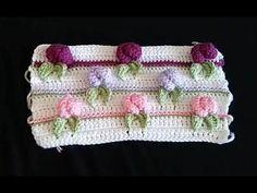 İncili Tığ İşi Bebek Battaniyesi Yapımı - YouTube