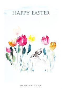 It's time for a cute Easter Printable! I've been painting, painting and painting pretty tulips you all! And this morning I painted a lovely watercolor art with a bunny being on the scene and guess what.!I am offering this ART for a FREE download today! I am not in the mood just yet to …