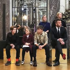Beckham family joined Victoria's fashion show in New York 2018