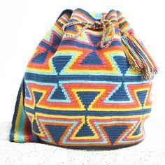 Guajira Authentic Wayuu Mochila Bag   WAYUU TRIBE – WAYUU TRIBE   Handmade Bohemian Bags