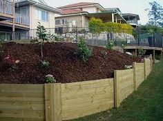 Image Result For Timber Retaining Wall Design
