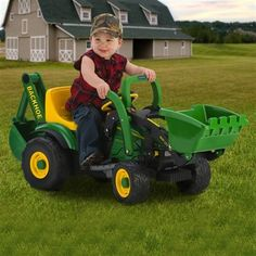 For all the little future farmers. - The  John Deere Utililty Tractor Ride-On Toy by Peg Perego