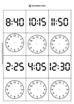 Memory pamięć zegar godziny gra do druku Printable Alphabet Worksheets, Worksheets For Kids, Kids Nursery Rhymes Songs, Teacher Tools, Math For Kids, Home Schooling, Math Activities, Fun Learning, Mathematics