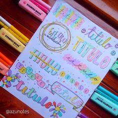 Bullet Journal Titles, Bullet Journal Cover Ideas, Bullet Journal Lettering Ideas, Bullet Journal Banner, Journal Fonts, Bullet Journal Notebook, Bullet Journal Aesthetic, Bullet Journal School, Bullet Journal Inspiration