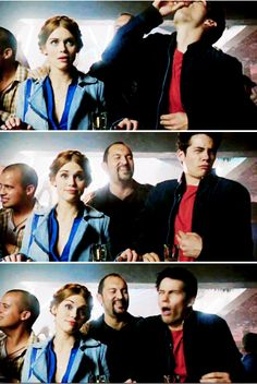 """I think's Holland's face is funnier than Dylan's...hahahahaha! She's just like, """"typical...what an idiot..."""""""