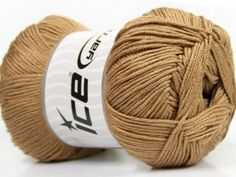 Baby AntiBacterial Light Brown knitting yarn from ice yarn