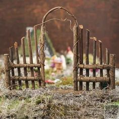 Twig Garden Gate ~  hot glue and twigs
