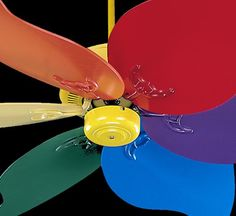 High Quality Quorum International 33466 99 46in. Pinwheel Ceiling Fan, Multi Color  Primary